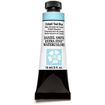 DANIEL SMITH 3981 Extra Fine Watercolor 15ml Paint Tube, Cobalt Teal Blue