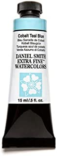 DANIEL SMITH 3981 Extra Fine Watercolor 15ml Paint Tube, Cobalt Teal Blue