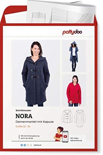 Schnittmuster Pattydoo Nora Damenmantel Damen Gr.32-54 Papierschnittmuster