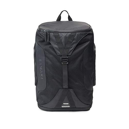 lamaki | Urban Black Backpack Daypack Sports Bag for Everyday Use | Gym Office Travel Shopping Commuting Cycling Swimming | Multifunctional Laptop Shoe and Wet Compartments | for Women and Men | 25L