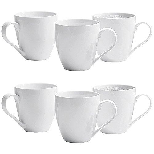 Flirt by R&B 88762 Jumbo Kaffeebecher 'Gusto' 600 ml, Porzellan, weiß (6 Stück)