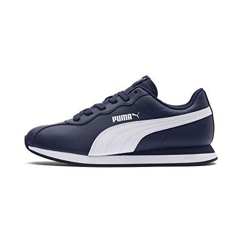 Puma Turin II Jr - Scarpe da Ginnastica Basse Unisex Bambini, Blu (Peacoat-Puma White 03), 35.5 EU