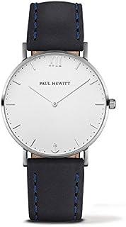 Paul Hewitt Mixte Analogique Quartz Montre avec Bracelet en Cuir PH-SA-S-St-W-11S