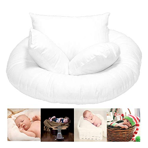Newborn Photography Props for Baby Girls and Baby Boys – Donut Pillow for Baby Basket, Half Boudoir Pillow, Micro Boudoir Pillow, and Round Pillow – Soft and Comfortable Infant Pillow Prop