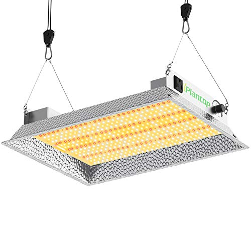 iPlantop Daisy Chain LED Grow Light (1500 Series) with Optical Aluminum Reflective Hood, High Par Value Full Spectrum LED Plant Growing Light for All Indoor Plants with Dimmable Function (150W)