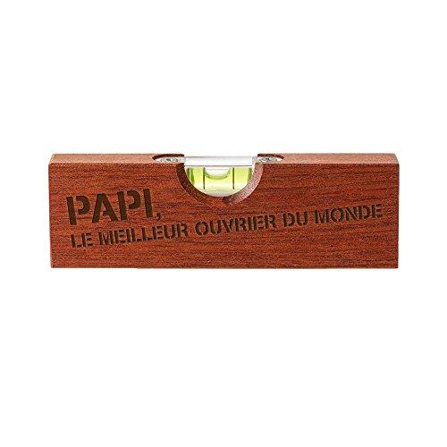 Casa Vivente Outil 2en1 avec Ouvre-Bouteille et Niveau à Bulle, Gravure pour Grand-père, Meilleur Ouvrier du Monde