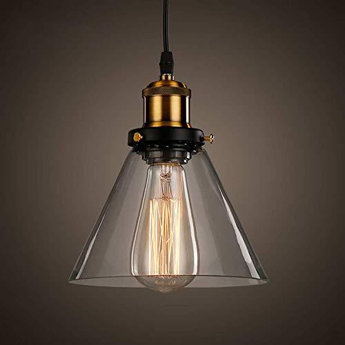 Louvra Lámpara Vintage Colgante Luz Industrial Lámpara de Techo Casquillo E27 Retro Cromo