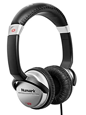 Numark HF125 - Ultra-Portable Professional DJ Headphones with 6 ft Cable, 40 mm Drivers for Extended Response & Closed Back Design for Superior Isolation by Numark