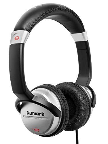 Numark HF125 - professioneller DJ Kopfhörer mit 2m Kabel und 40 mm Lautsprechern für besseren Frequenzgang und geschlossenen Ohrmuscheln für optimale Abschirmung, Schwarz