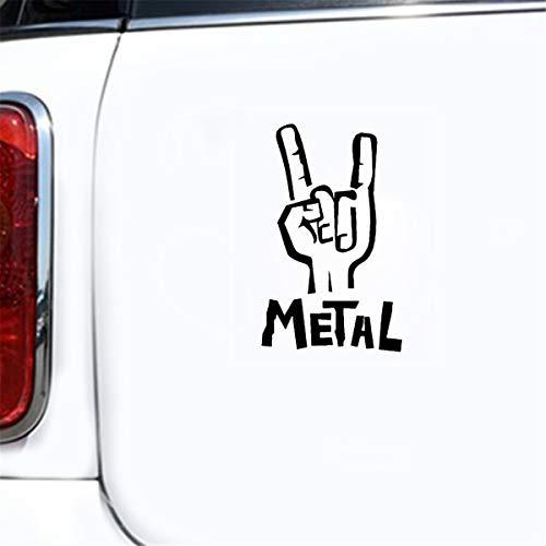 coche pegatina 4x4 7.6Cmx12.1Cm Heavy Metal Sticker Decal Bajo eléctrico Guitarra Rock...