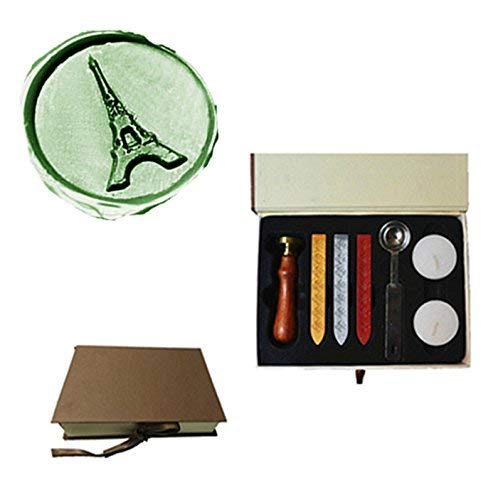 MDLG Vintage The Eiffel Tower Custom Picture Logo Wedding Invitation Wax Seal Sealing Stamp Sticks Spoon Gift Box Set Kit