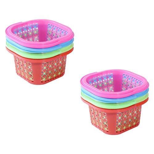 VALICLUD 6 Piezas de Plástico Cesta de Pascua Coloridos Huevos de Pascua...