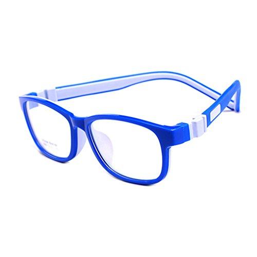Juleya Juleya Kinder Gläser Rahmen - Silikon - Professionel Kinder Brillen Clear Lens Retro Reading Eyewear für Mädchen Jungen - 180710ETYJJ04