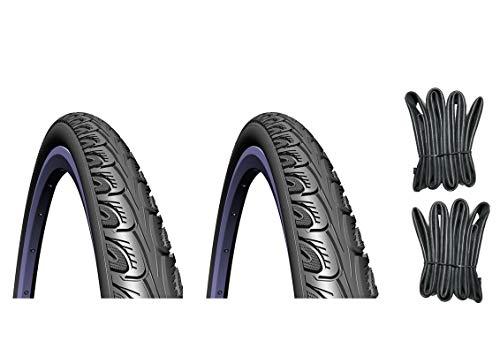 breluxx MITAS 2X Fahrradreifen SP.700 x 35C 37-622 V69 Hook + 2X Schlauch (AV Ventil)