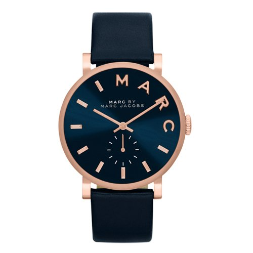 Marc Jacobs Unisex Baker Watch Blue Leather -  MBM1329