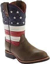 Twisted X Boys' Vfw American Flag Cowkid Work Boot - Ycw0010