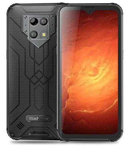 Blackview BV9800 Pro(2020) Wärmebildkamera Outdoor Smartphone Ohne Vertrag - 48 MP + 16 MP, 6GB+128GB Helio P70, Android 9.0 IP68 Robust Handy, 6580mAh-Akku, Qi Drahtlose Ladung, NFC DUAL-SIM Schwarz