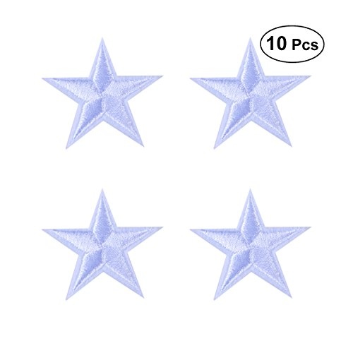 HEALLILY Toppe Termoadesive Patch Adesivi Forma di Stelle per Fai da Te Maglietta Jeans Abbigliamento Borse 10pcs