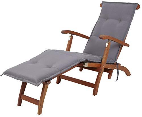 Kettler Polen KETTtex 2085 Auflage Deckchair Florence Taupe-grau Sitzpolster 190x50x6 cm (ohne Stuhl)