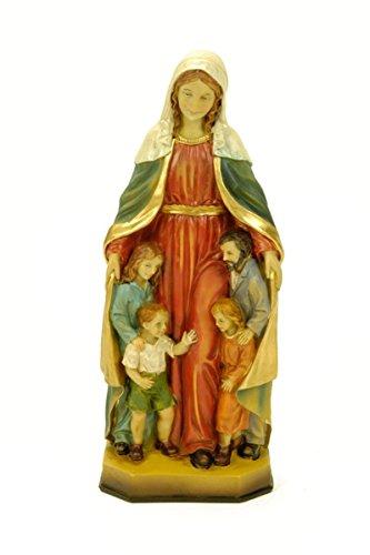 """Figura Religiosa Decorativa """"Virgen María Protectora de la Familia"""" Esculturas Resina. 8 x 7 x 20 cm."""