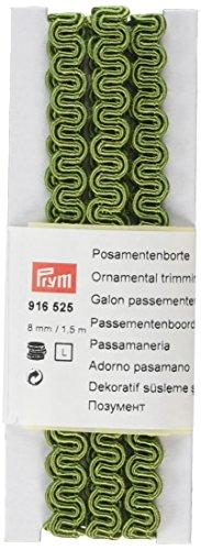 Prym–Tejido RIC-rac Recortar Ornamental, Mezcla de poliéster, Verde, 8mm, 1,5m