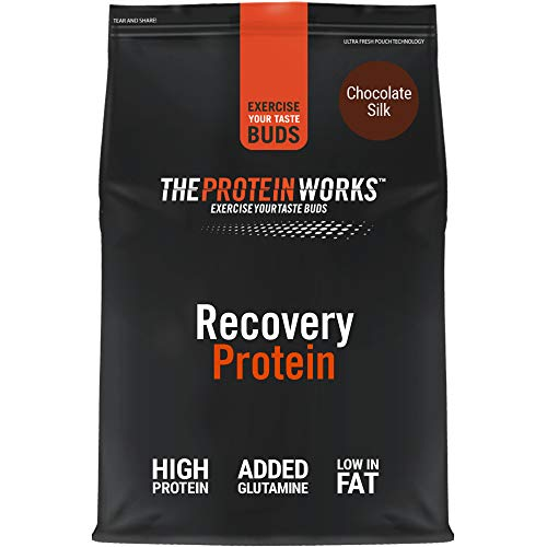 The Protein Works Recovery Protein Powder Shake, Grade Proteins, Chocolate Silk, 500 g