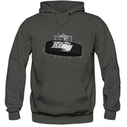 I'm a King #2 Hoodie |Eishockey | Play Offs | USA | Kapuzenpullover, Farbe:Graphit (Light Graphit F421);Größe:XL