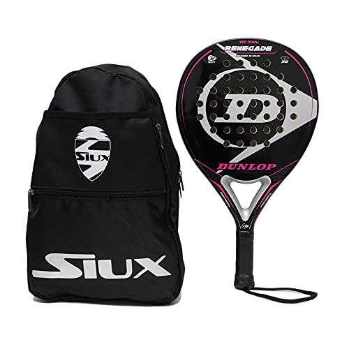 Pala de Padel Dunlop Renegade Soft + Bandolera Siux / Mejores Palas y Raquetas de Pádel para Hombre...