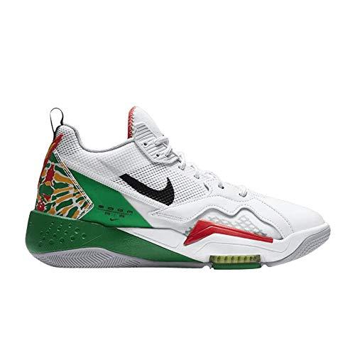 Jordan Zapatos De Hombre Nike Zoom 92 Summit Blanco CK9183-103, (Summit blanco/verde suerte/pista rojo/negro), 43.5 EU