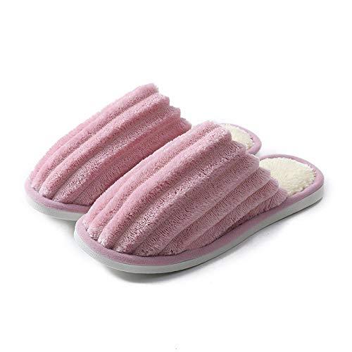 QPPQ Pantuflas de algodón, par de cómodas zapatillas, zapatillas de algodón de felpa para otoño e invierno_4.5/5, cómodas zapatillas de algodón