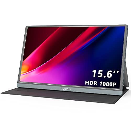 モバイルモニター COOAU 15.6インチ モバイルディスプレイ ゲームモニター 非光沢IPSパネル ポータブルモニター1920x1080FHD 薄型 軽量 内蔵スピーカー USB Tpye-C/mini HDMI/カバー付き PS4/XBOX/Switch/PC/Macなど対応 日本語取説書 PSE認証済み