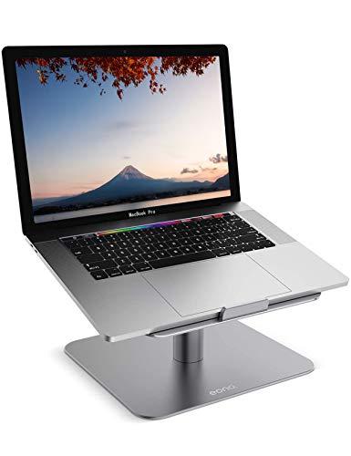 Amazon Brand - Eono Soporte para Portátil, Multiángulo Portátiles Soporte: Mesa Base Ajustable Notebook PC Macbook Pro/Air, DELL XPS, HP, Lenovo,Galaxy Book, para 10'~17' Otras Ordenadors - Gris