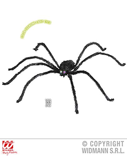 Widmann Generique - Araignée Yeux Lumineux 153 cm Halloween