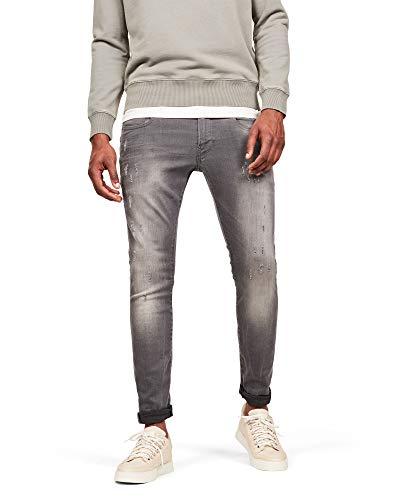 G-STAR RAW Herren Revend Skinny Jeans, Grau (Light Aged Destroy 6132-1243), 28W / 32L