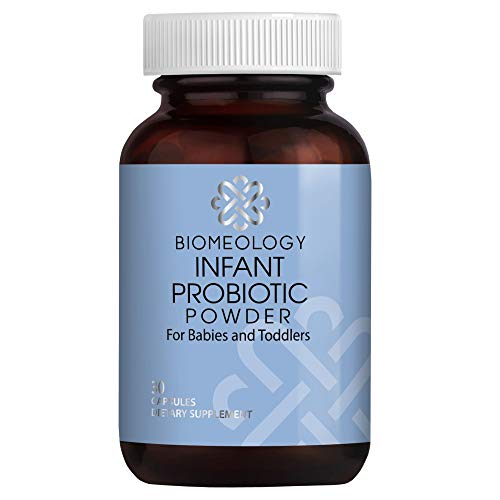 Biomeology Infant Probiotic Powder – Organic Ingredients – 12 Strains for Babies and Toddlers - Immune Health, Digestive Support for 0-36 Months – 30 Servings for Baby Gas, Constipation, Colic Relief