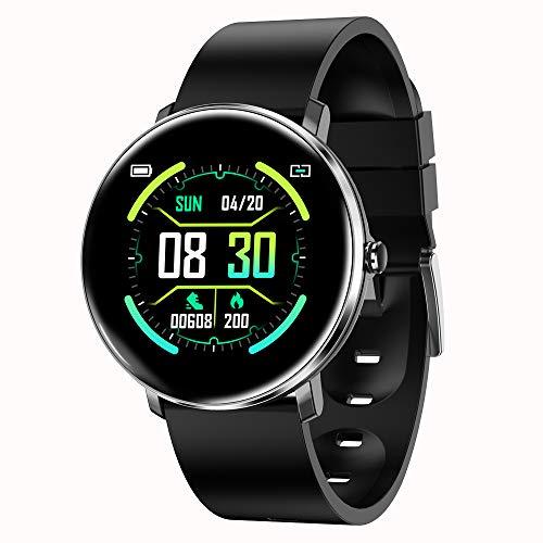 Fitness-Tracker, wasserdichter IP67-Bewegungsmelder, Schrittzähler-Herzfrequenz- und Schlafüberwachung, Kalorienzähler-Uhr, schlankes, Elegantes Armband (für Jungen und Mädchen)