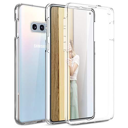 Winhoo Kompatibel mit Samsung S10E Hülle 360 Grad Crystal Clear Transparent Hüllen mit Integriertem Displayschutz Silikon und PC Handyhülle Schutzhülle für Samsung Galaxy S10E Durchsichtige