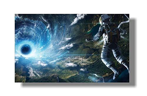 Poster Plakat Leinwanddrucke Leinwandbild Aqaaq Bier Weltraum Erde Astronauten Entspannung Mondlandung Fantasy Poster Wandbilder Für Wohnzimmer Mit Rahmen