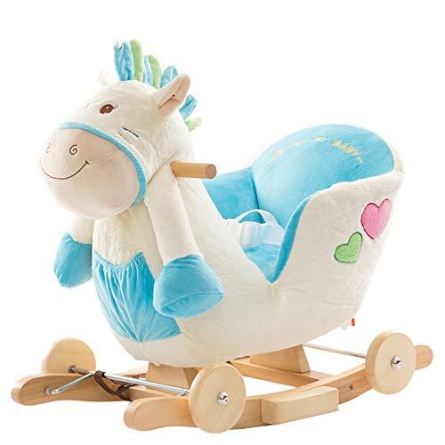 NEHARO Jouet d'équitation Bébé Rocking Horse Kid Ride on ToyRiding Cheval for 1-3 Ans Vieux Debout Ride on Cheval Jouet (Couleur : Blanc, Taille : 60X28X55CM)
