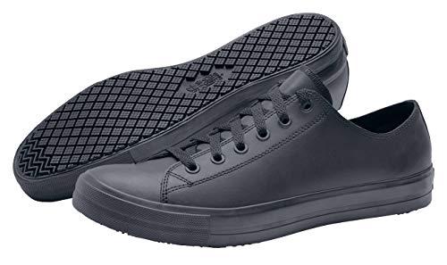 Shoes for Crews 38649-45/10 DELRAY Lässige Lederschuhe für Herren und Damen, Rutschhemmende, Größe 10 UK, Schwarz
