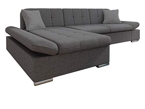 Mirjan24 Ecksofa Malwi mit Regulierbare Armlehnen Design Eckcouch mit Schlaffunktion und Bettkasten, L-Form Sofa vom Hersteller, Couch Wohnlandschaft (Lux 06 + Lux 06 + Lux 05, Ecksofa: Links)