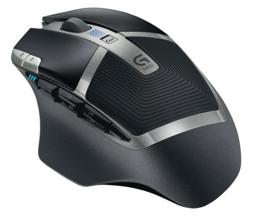 Logitech G602 Mouse Gaming Wireless, 2500 DPI, RGB, Design Leggero, 11 Pulsanti Programmabili, Durata della Batteria Fino a 250 Ore, Memoria Integrata, Compatibile con PC/Mac/Laptop, Nero (Antracite‎)