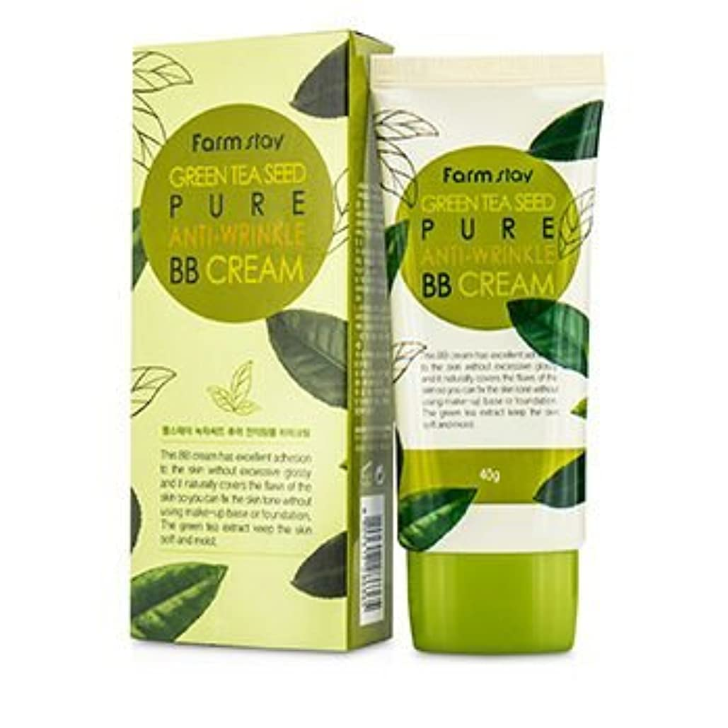 まともなスリップシューズ保険をかけるFarm Stay Green Tea Seed Pure Anti-Wrinkle BB Cream 40g/1.3oz by FARMSTAY