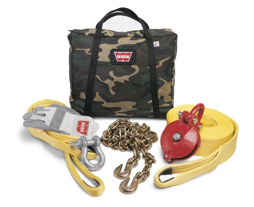 WARN 29460 Heavy Duty Winch Rigging Accessory Kit with Camouflage Storage Bag