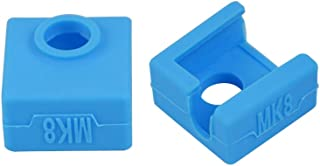 3D Printer Heater Block Silicone Cover MK7/MK8/MK9 Hotend Compatible with Creality CR-10,10S,S4,S5,Ender 3, ANET A8 Pack of 2 (Blue)