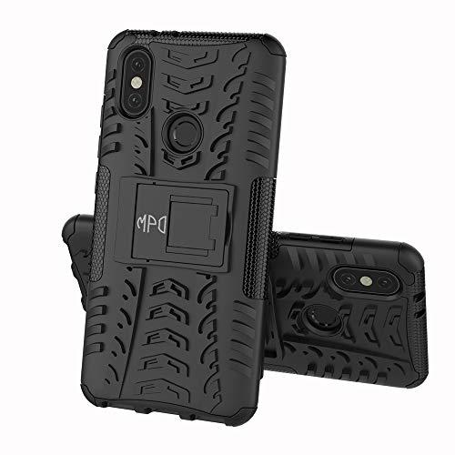 Max Power Digital Funda para Xiaomi Mi A2 con Soporte Protección 360 Grados 2 en 1 Carcasa Dura Resistente Antigolpes Heavy Duty Rugged Armor Case (Xiaomi Mi A2, Negro)