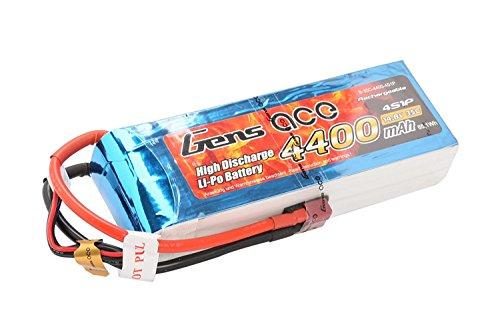 Gène Ace 4400 mAh 14,8 V 35 C 4s1p Lipo Pack Batterie avec Deans T Prise pour modélisme RC Car Heli Bâche Boat Truck FPV Voiture hélicoptère Avion Toys