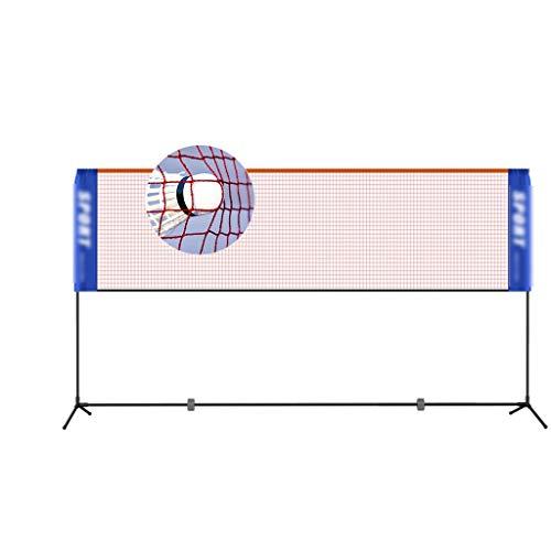 Netze & Garnituren Badminton Badmintonnetz einfaches Klappgestell tragbares Volleyballnetz Sport-Fitnessgeräte Edelstahlgestell Tennisregal Flipper-Verbindung (Color : Black, Size : 410 * 155cm)