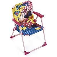ARDITEX Silla Plegable para niños bajo Licencia Minnie Mouse (Metal, Dimensiones: 38 x 32 x 53 cm, Tela, 38 x 32 x 53 cm