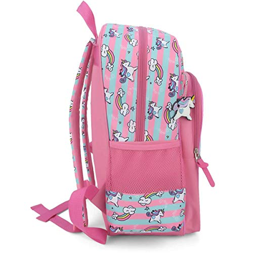 MOCHILA INFANTIL FEMININA ESCOLAR UNICÓRNIO ROSA UP4YOU 33091